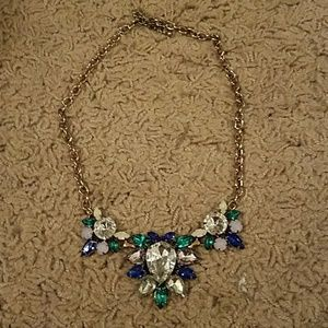 J. Crew blue and green statement necklace